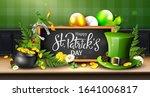 leprechaun s hat  pot of gold ... | Shutterstock .eps vector #1641006817