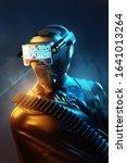 futuristic human model wearing... | Shutterstock . vector #1641013264