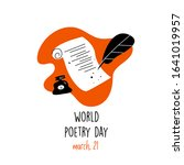 World Poetry Day  March 21...