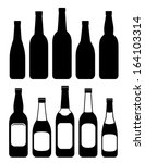 Set Of Isolated Beer Bottles O...