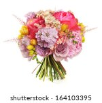 rose flower in over white | Shutterstock . vector #164103395