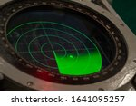 Green Military Radar Screen...