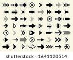 big set of black vector arrow.  ... | Shutterstock .eps vector #1641120514