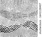 black and white wavy pattern....   Shutterstock .eps vector #1641128407