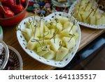 Cantaloupe Melon Pieces In...