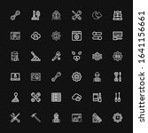 editable 36 settings icons for... | Shutterstock .eps vector #1641156661