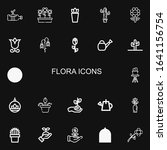 editable 22 flora icons for web ... | Shutterstock .eps vector #1641156754
