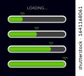 loading progress bar. green...