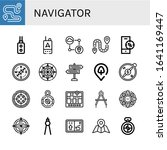 set of navigator icons. such as ...   Shutterstock .eps vector #1641169447