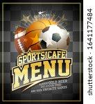 sports cafe menu card design... | Shutterstock .eps vector #1641177484