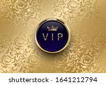 vip blue label with round... | Shutterstock .eps vector #1641212794