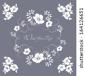 elegance pattern with flowers.... | Shutterstock .eps vector #164126651