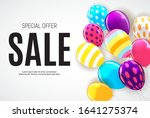 sale banner with floating... | Shutterstock .eps vector #1641275374