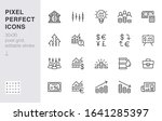 investment line icon set. stock ... | Shutterstock .eps vector #1641285397