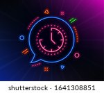 time management line icon. neon ...