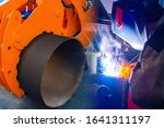 replacement of pipes. large...   Shutterstock . vector #1641311197