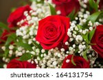 Stock photo nice roses in celebration concept 164131754