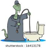 toilet snake | Shutterstock . vector #16413178