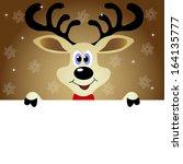cute christmas reindeer   Shutterstock .eps vector #164135777