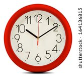 Wall Clock Isolated On White...