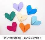 Pastel Heart Folded Paper ...