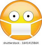 sick emoticon wearing a medical ... | Shutterstock .eps vector #1641415864