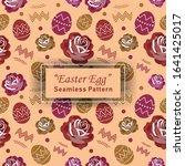 easter egg seamless pattern... | Shutterstock .eps vector #1641425017