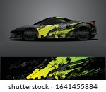 sport car decal graphic wrap... | Shutterstock .eps vector #1641455884