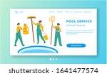 landing page   pool maintenance ...   Shutterstock .eps vector #1641477574