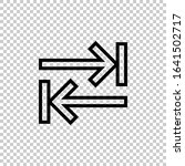 outline tab key icon vector...
