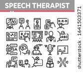 speech therapist help... | Shutterstock .eps vector #1641503371