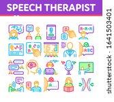 speech therapist help...   Shutterstock .eps vector #1641503401