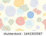 abstract pastel hand drawn... | Shutterstock .eps vector #1641503587
