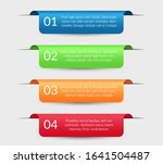 infographic labels. ribbons... | Shutterstock .eps vector #1641504487