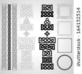 celtic knots  patterns ... | Shutterstock .eps vector #164152514