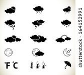 weather icons set | Shutterstock .eps vector #164152991