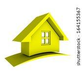 3d yellow house  | Shutterstock . vector #164155367