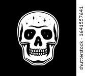 space skull white black color   Shutterstock . vector #1641557641