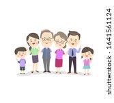 cartoon happy family on white...   Shutterstock .eps vector #1641561124