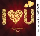 valentine's background with... | Shutterstock .eps vector #164156477
