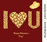 valentine's background with... | Shutterstock .eps vector #164156504