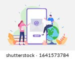vector illustration email...