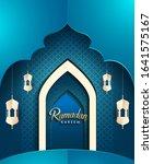 ramadan greetings background ... | Shutterstock .eps vector #1641575167