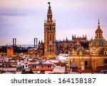 giralda spire bell tower...   Shutterstock . vector #164158187