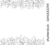 botanical sketched floral frame.... | Shutterstock .eps vector #1641632254
