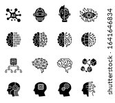 artificial intelligence icons... | Shutterstock .eps vector #1641646834
