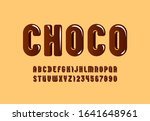 chocolate glossy font  brown... | Shutterstock .eps vector #1641648961