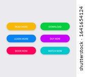 set of vector modern buttons.... | Shutterstock .eps vector #1641654124