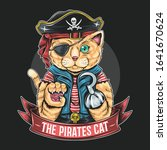 pirates cat vector artwork with ... | Shutterstock .eps vector #1641670624