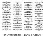 set of 50 doodle sketch drawing ... | Shutterstock .eps vector #1641673807
